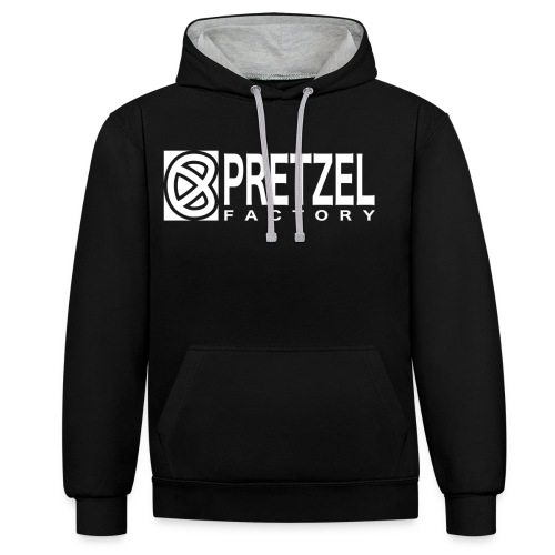 Pretzel Factory Logo Blanc - Sweat-shirt contraste