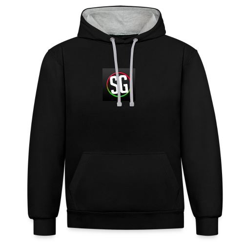 My logo - Contrast Colour Hoodie