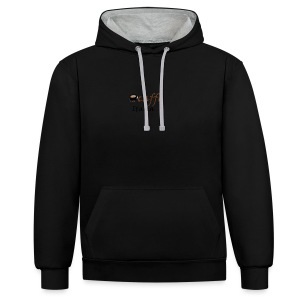 path3thf54dgtht55 - Contrast hoodie