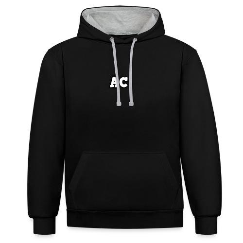 AC blur logo - Contrast Colour Hoodie