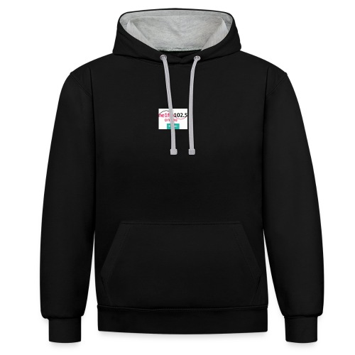 1 - Contrast Colour Hoodie