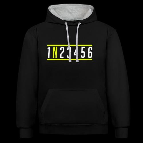 1N23456 - Kontrast-Hoodie