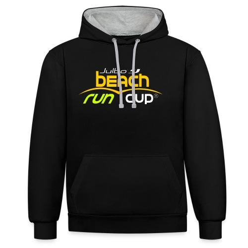 SPREADSHIRT_Atelier_Beach_run_v3_-1- - Sweat-shirt contraste