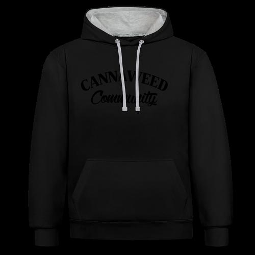 noir sur blanc CWD Communauté - Sweat-shirt contraste