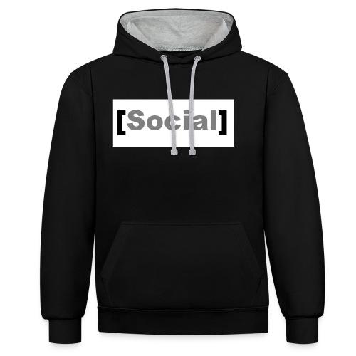 SocialMoods - Kontrast-Hoodie