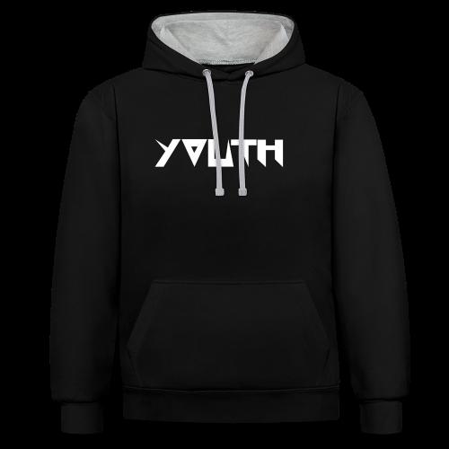 youth black - Bluza z kapturem z kontrastowymi elementami