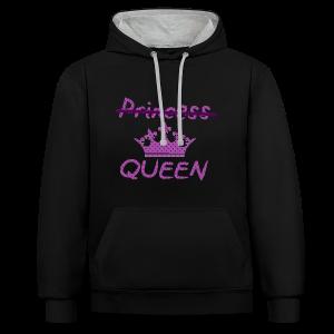 Not a princess but a QUEEN - Contrast hoodie