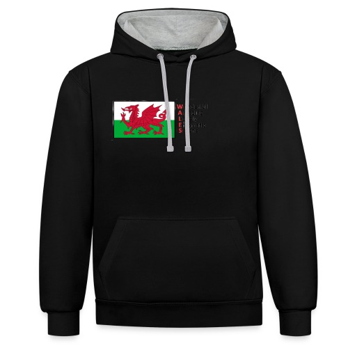 wales_letters - Contrast Colour Hoodie