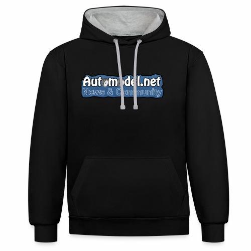 Automodel.net - Felpa con cappuccio bicromatica