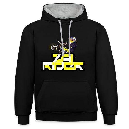 LOGO ZAI RIDER - Sweat-shirt contraste