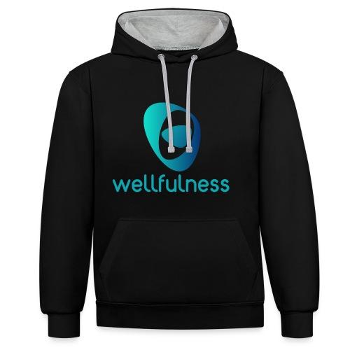 Wellfulness Original - Sudadera con capucha en contraste