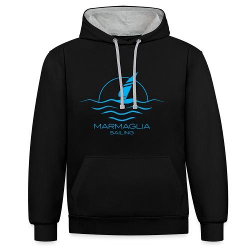 Marmaglia Basic Logo - Felpa con cappuccio bicromatica