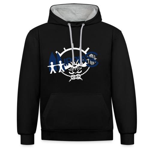 hippias logo - Contrast hoodie