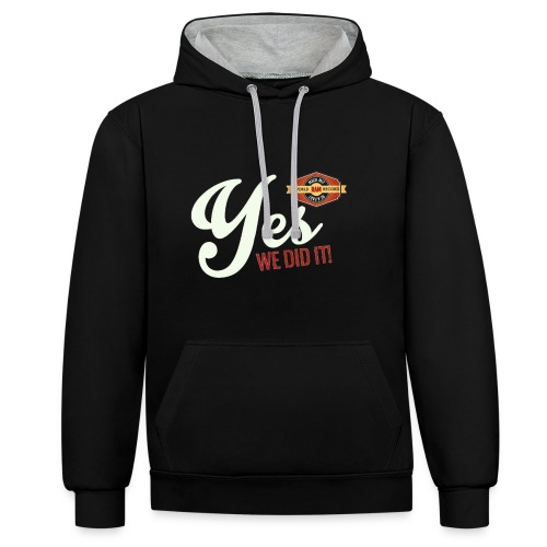 YES-creme-nappo - Kontrast-Hoodie