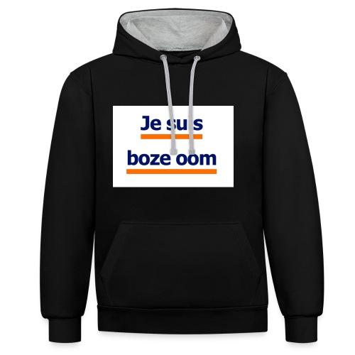 boze oom - Contrast hoodie