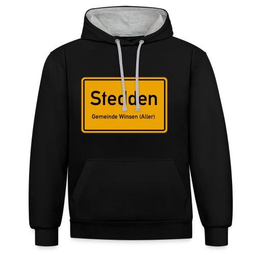 Stedden - Das Dorf am Rande der Lüneburger Heide - Kontrast-Hoodie