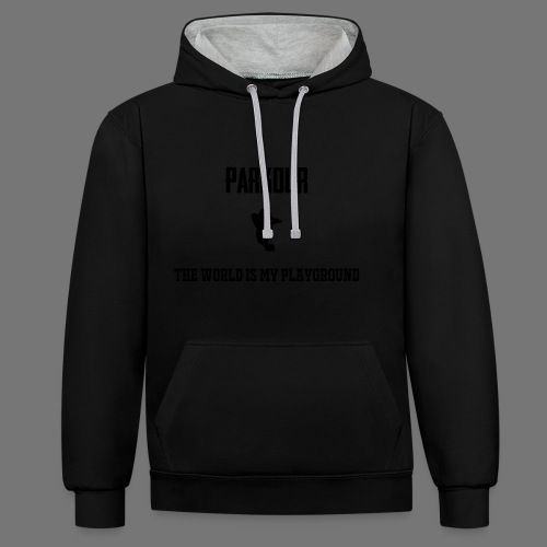 World is my playground - Contrast hoodie