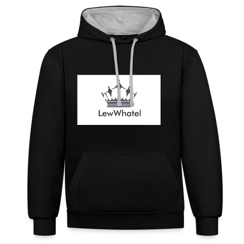 LewWhatel - Kontrast-Hoodie
