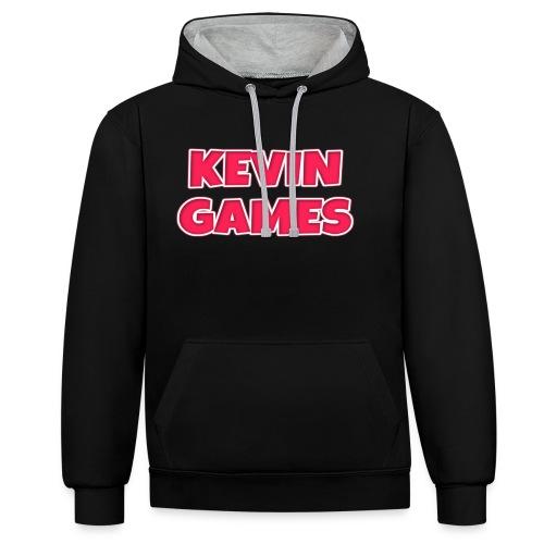 Maglietta KevinGames YouTube - Felpa con cappuccio bicromatica