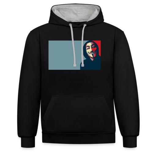 Anonymous - Sudadera con capucha en contraste