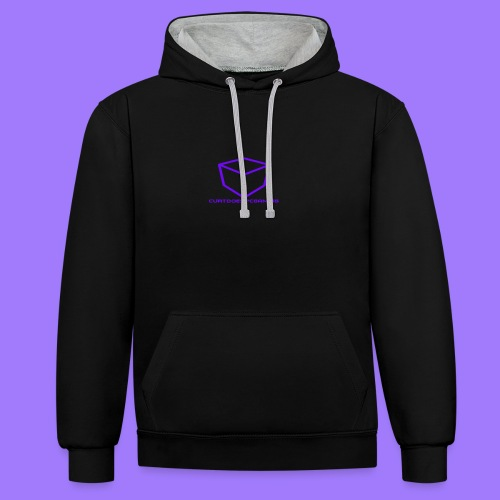 curtdoespcgaming logo #2 - Contrast Colour Hoodie