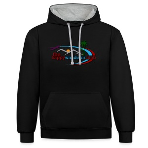 The Happy Wanderer Club Merchandise - Contrast Colour Hoodie