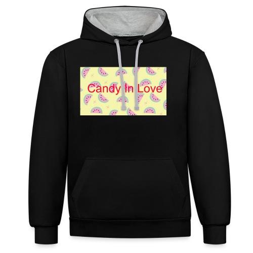 Merchandise Candy In Love - Contrast hoodie