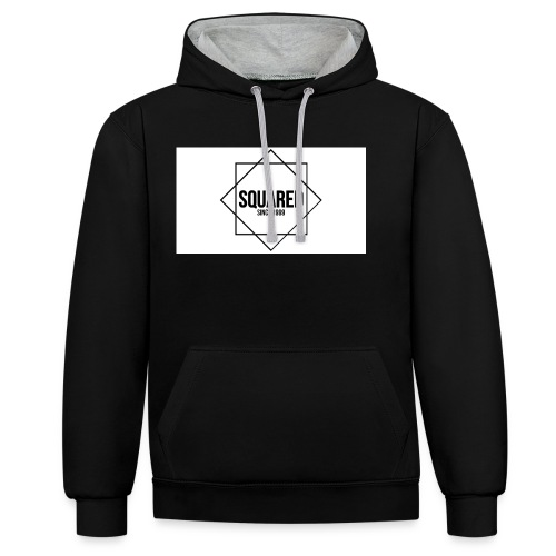 squared - Contrast hoodie