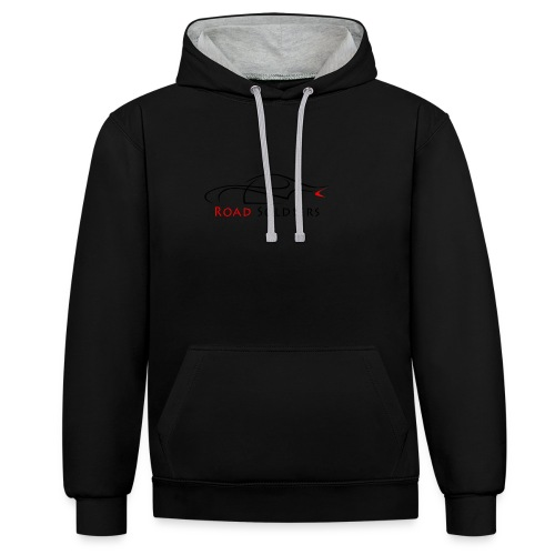 Logo Negro - Sudadera con capucha en contraste