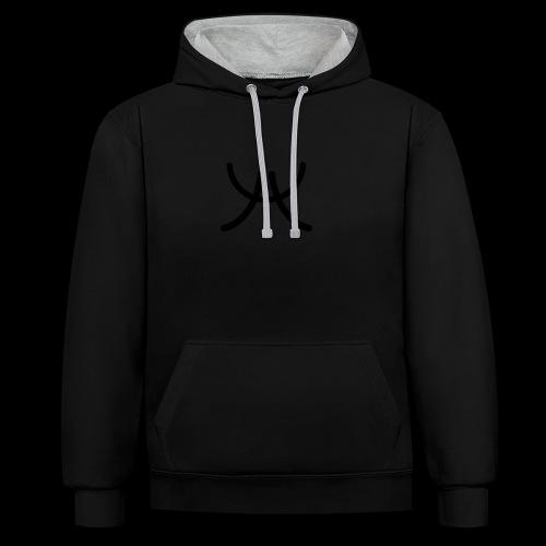 AW1 Design zwart - Contrast hoodie