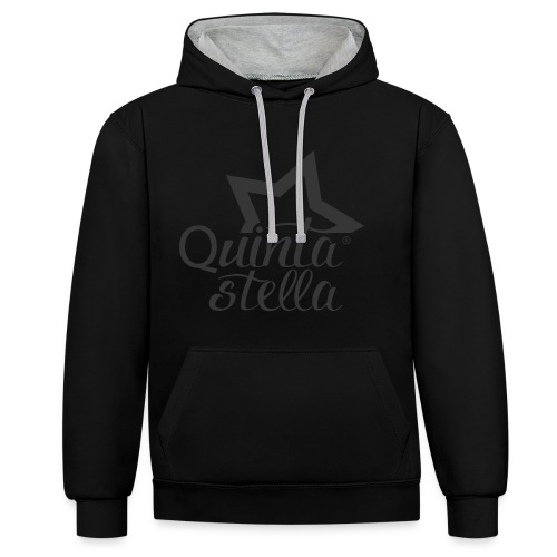 Quinta Stella - Felpa con cappuccio bicromatica