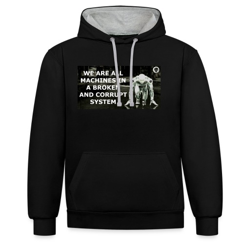 BROKEN MACHINES COLLECTION BY SYSTEM MACHINE - Contrast Colour Hoodie