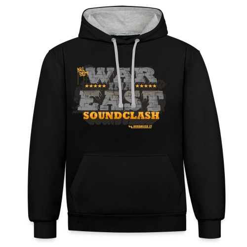 WAR INA EAST but - Contrast Colour Hoodie