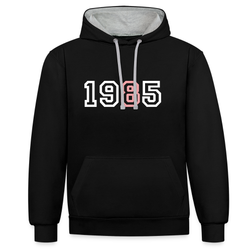 1985 - Sudadera con capucha en contraste