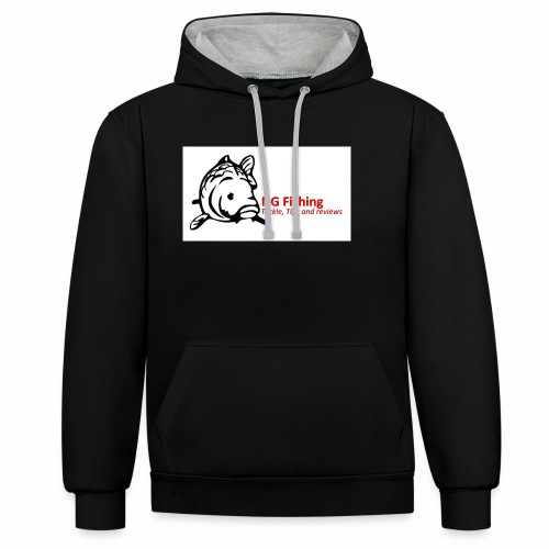 ng fishing logo new - Contrast Colour Hoodie