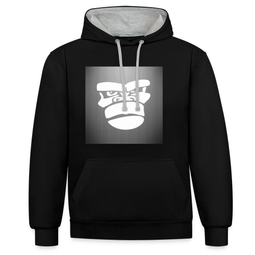 _mad_gorilla__by_marco_itri-d5sojaz - Sudadera con capucha en contraste