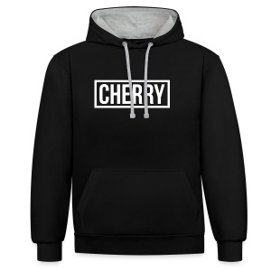 Cherry White - Contrast hoodie