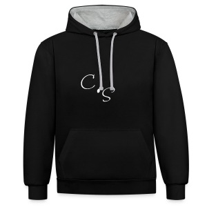 C.S white line - Contrast Colour Hoodie