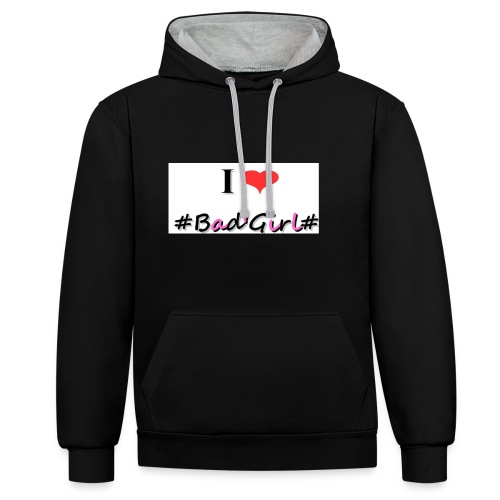 Collection Hastag I love bad girl - Sweat-shirt contraste