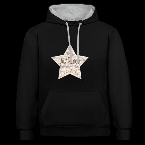 PAS Star Original bg beige - Kontrast-Hoodie