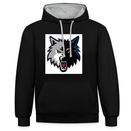 minnesota-timberwolves-logo - Contrast Colour Hoodie