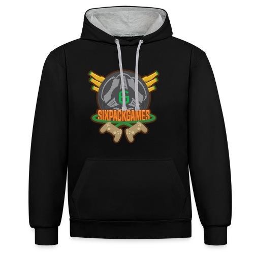 Sixpack Games Logo - Contrast Colour Hoodie