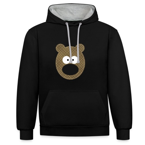 Little Bear - Felpa con cappuccio bicromatica