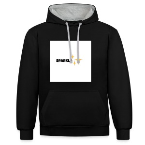 sparkle - Contrast hoodie