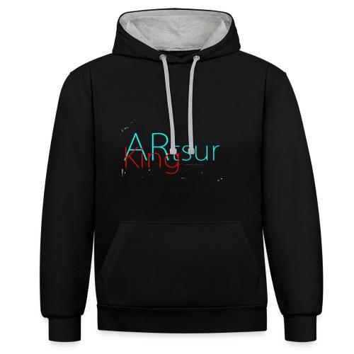 ARtsurKing Logo - Kontrast-hættetrøje