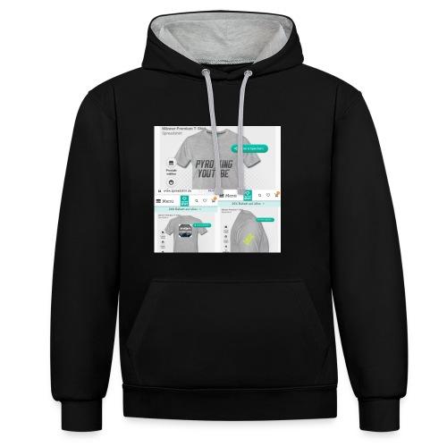 Pyro_King T-shirt - Kontrast-Hoodie