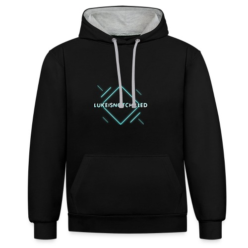 Lukeisnotchilled logo - Contrast Colour Hoodie