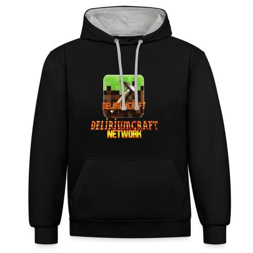 magliette DeliriumCraftNetWork - Felpa con cappuccio bicromatica