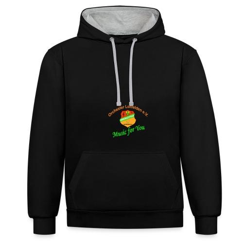shirt2 - Kontrast-Hoodie