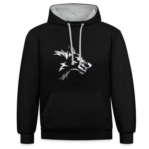 Kizo1991 Silver Wolf - Contrast Colour Hoodie